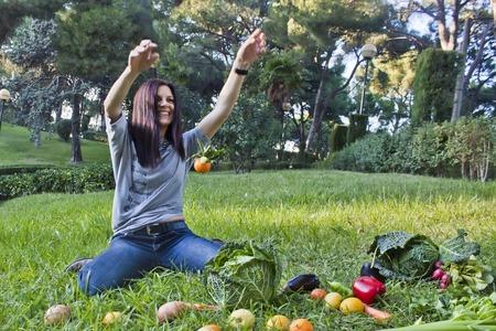 levitating: One mandarin levitating Stock Photo