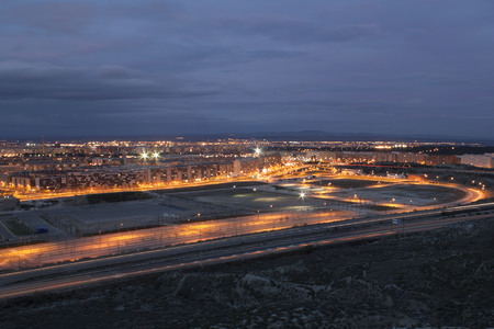 zaragoza: Zaragoza at night with lights