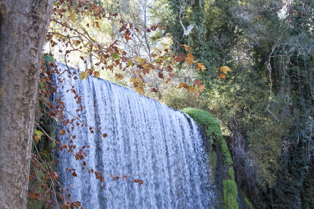 colourfully: waterfall in autumn full of leaves