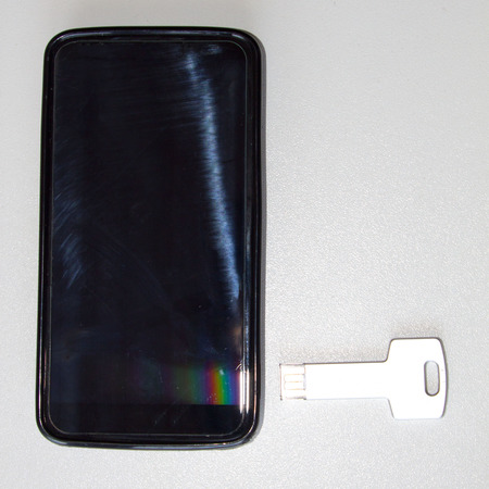 pendrive: mobile and a key pendrive