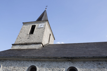 saint jacques: Saint Jacques church in Saint Lary in a sunny day, France Stock Photo