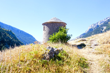 shelter for the spanish civil war in the middle of the mountains