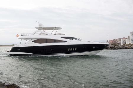 pleasure craft: big boat near the spanish coast arriving