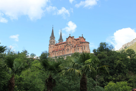 Basilica of Covadonga in the high of the mountain, Spain
