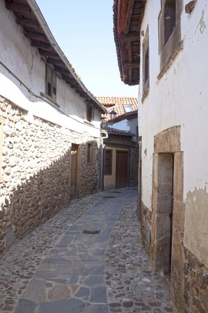 Narrow, stoned street in a spanish village, Potes