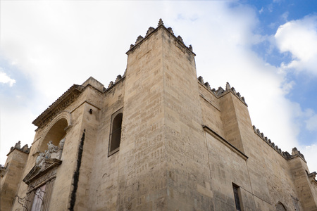 cordoba mosque from down to the sky in Spain 스톡 콘텐츠