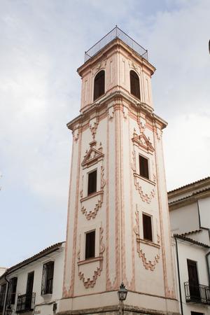 tower of Santo Domingo church in Cordoba Spain in summer