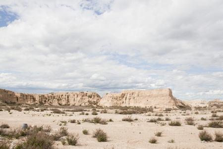 desert landscape in an arid earth in Spain 스톡 콘텐츠