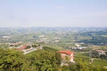 La Morra in Italy seen from a mountain