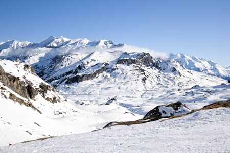 view of the mountains in Pyrenees in France