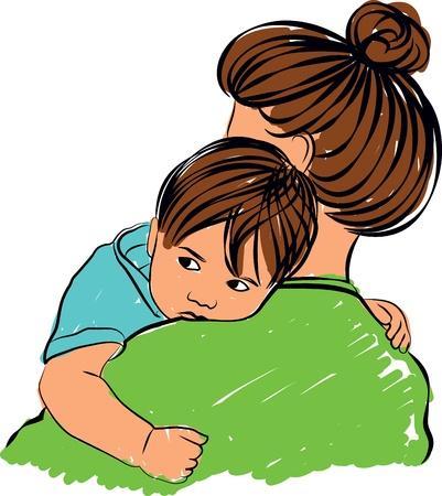 Mom and son Illustration