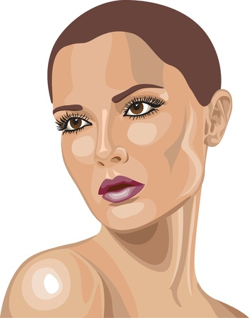 abstract portrait: Pretty Woman Illustration