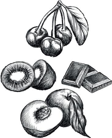 Illustration of fruits Ilustracja