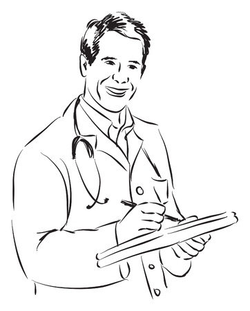 DOCTOR ILLUSTRATION Vector