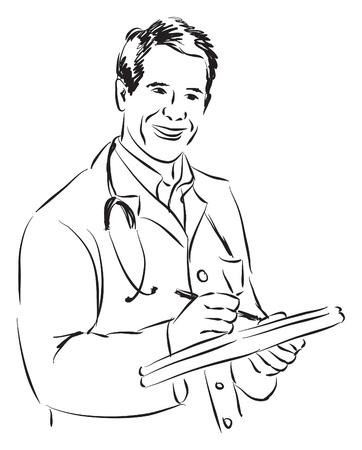 ILUSTRACIÓN DEL DOCTOR Foto de archivo - 19316572