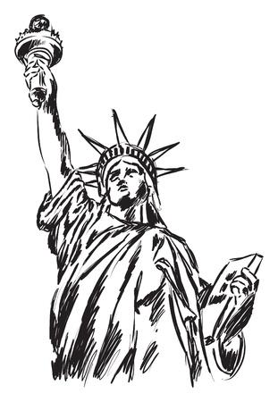자유 그림의 동상
