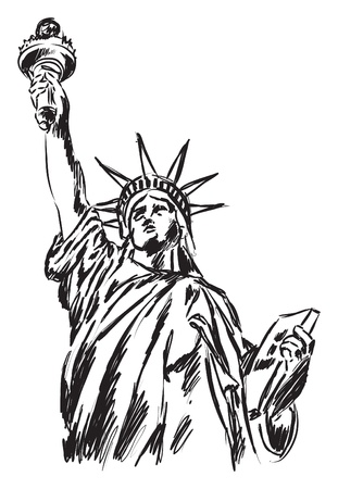 statue of liberty illustration Vettoriali