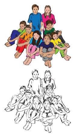 学生のグループの図