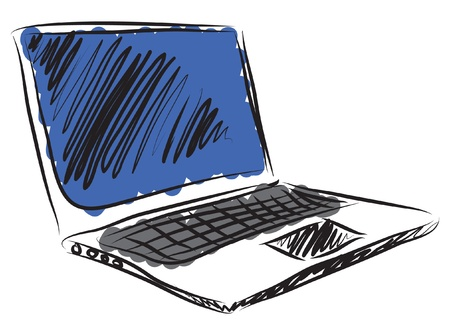 laptop screen: laptop computer illustration