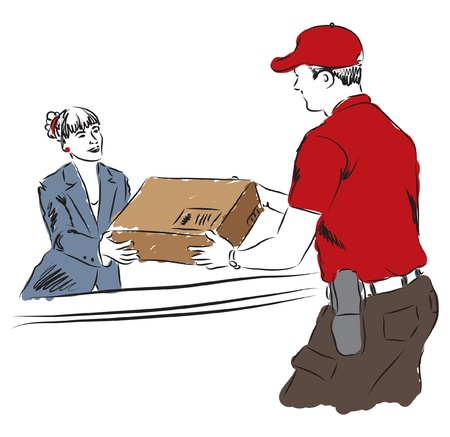 delivery service professional work illustration Vector