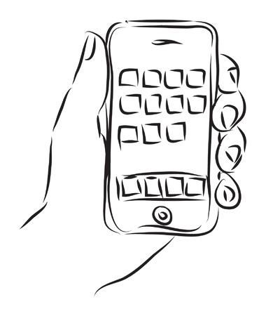 hand with  illustration Illustration