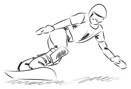snowboarding: snowboarding illustration