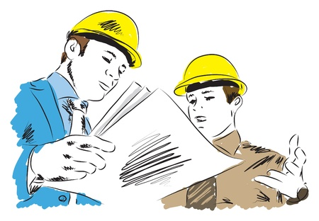 architects 2 illustration at work Stock Vector - 19840911