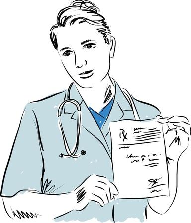 doctor medical illustration 1 Stock Vector - 20270005