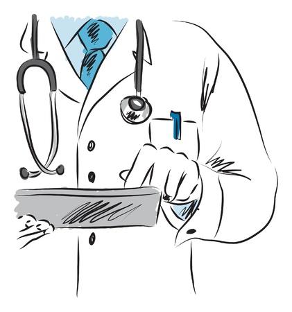 doctor dibujo animado: médico ilustración médica 2