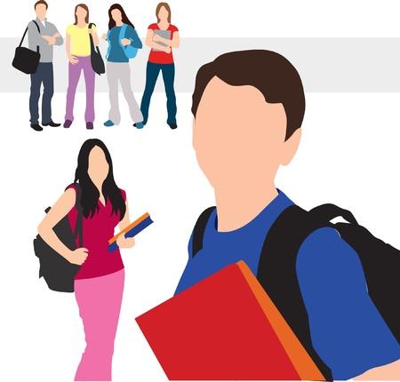 students illustration Фото со стока - 20269918