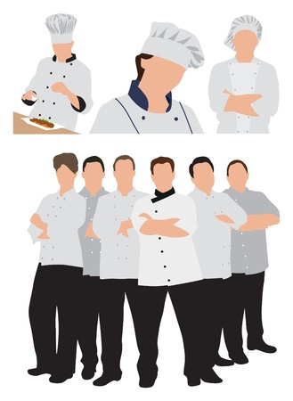 healthy woman white background: chefs illustration