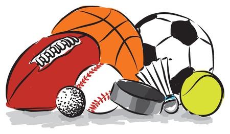 balones deportivos: bolas de los deportes ilustración Vectores
