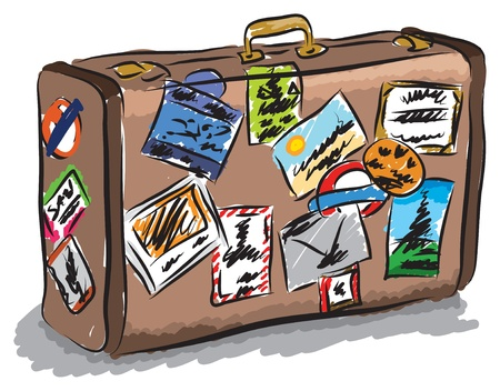 travel bag illustration Çizim