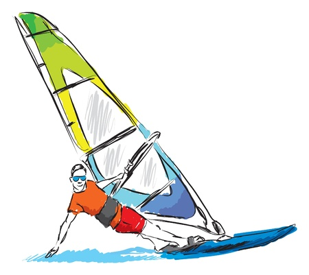 windsurf: windsurf illustration Illustration
