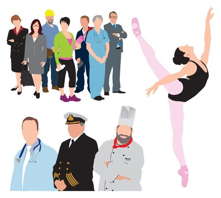 occupations workers illustration Imagens - 21448148