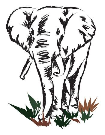 olifant illustratie Stock Illustratie