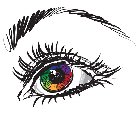 woman lady eye illustration