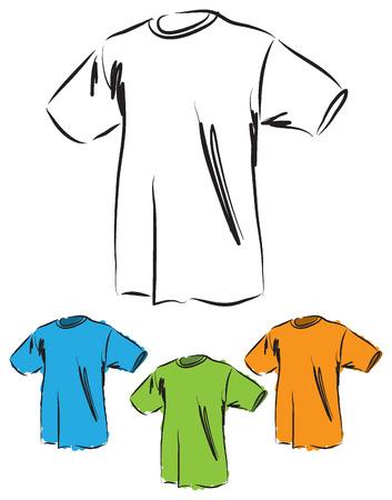 creative arts: t-shirt-basic-cotton illustration