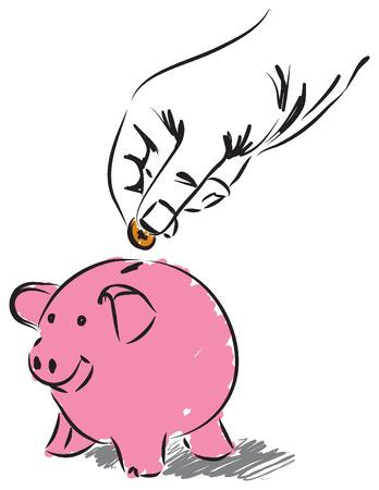 geld: geld te besparen illustratie