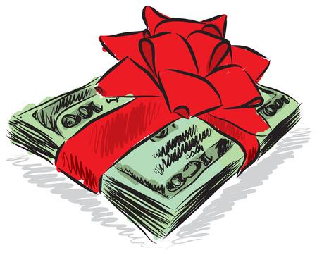 geld: geld dollars giftillustratie