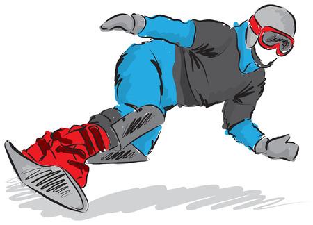 snowboarder illustration Ilustracja