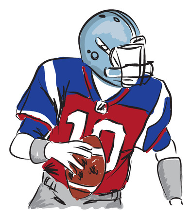 ability: football player illustration