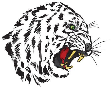silueta tigre: tigre ilustración Vectores