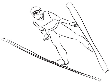 adolescent: ski illustration