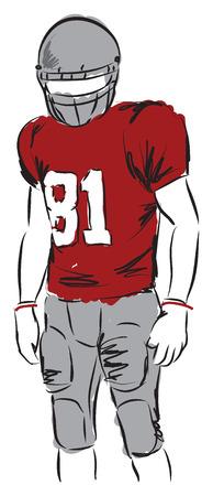uniforme de futbol: jugador de fútbol ilustración Vectores