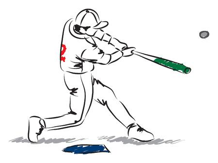 hitter: baseball player illustration