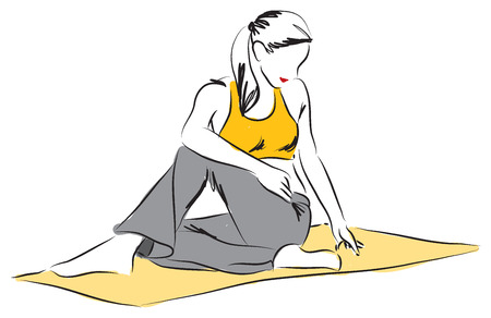 yoga posture illustration 2
