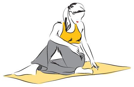 yoga posture illustration 2 Vector