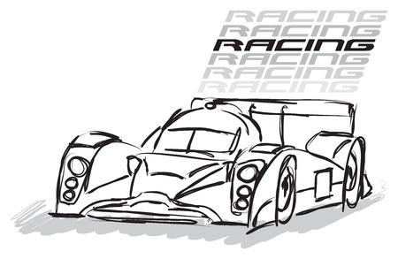 racing sign: RACING CAR ILLUSTRATION