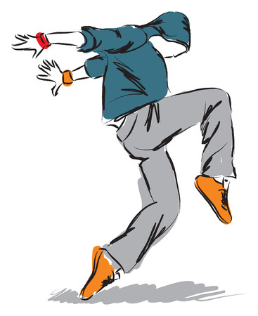 hip-hop dancer dancing illustration 3